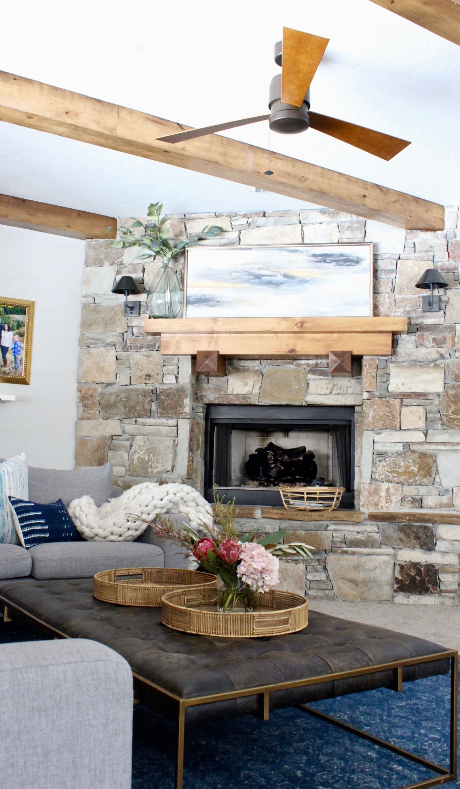 Updated Rustic Modern Family Room
