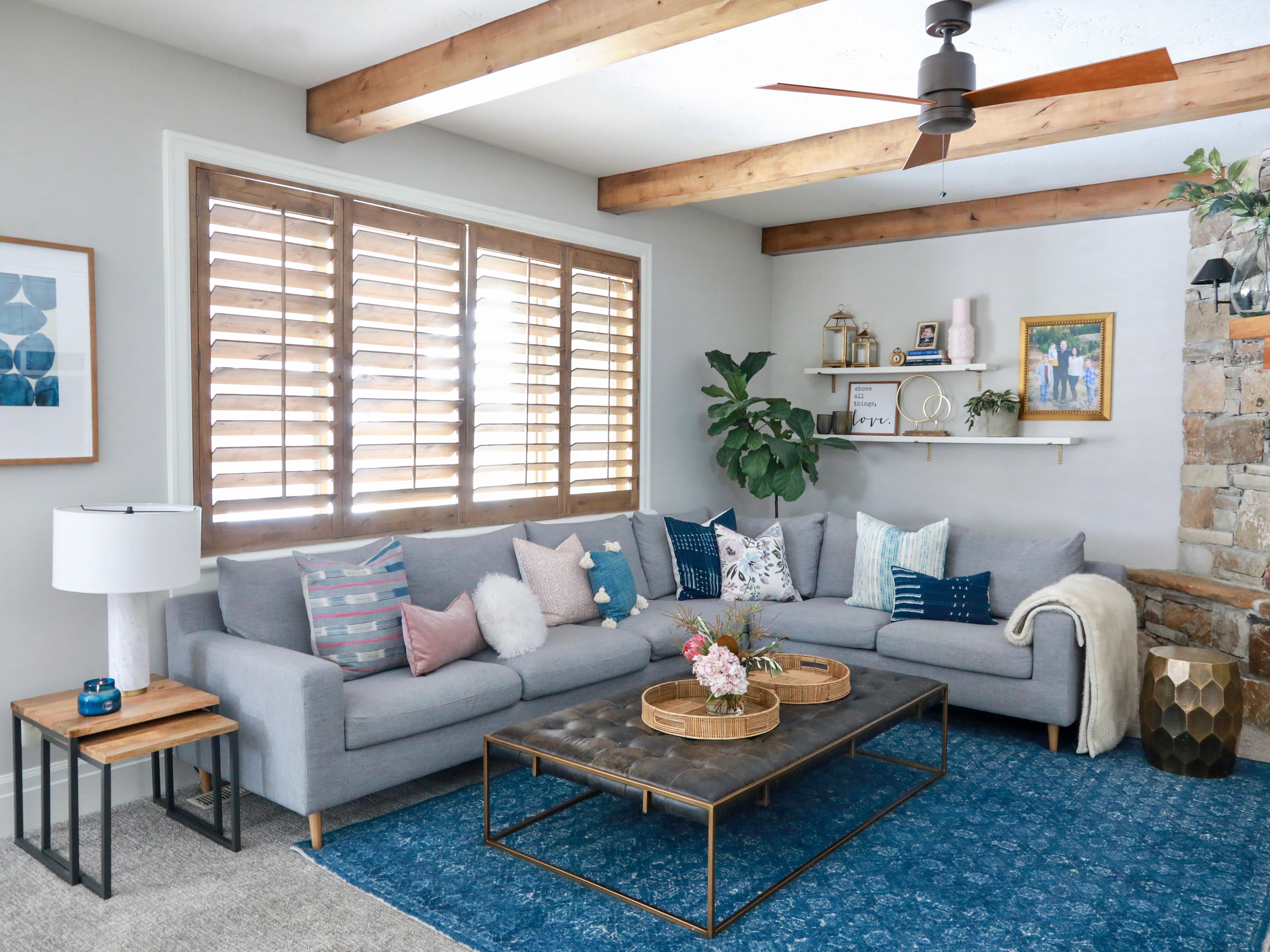 Updated Rustic Modern Family Room - AFP Design